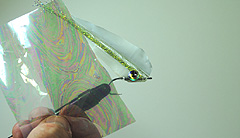 Picture showing how to use the foil on the fly